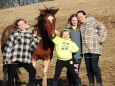 Making friends with our horse Lakota!