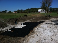 Building a livestock water trough and stabilized alleyway on farm in Mt. Pleasant Township, PA.
