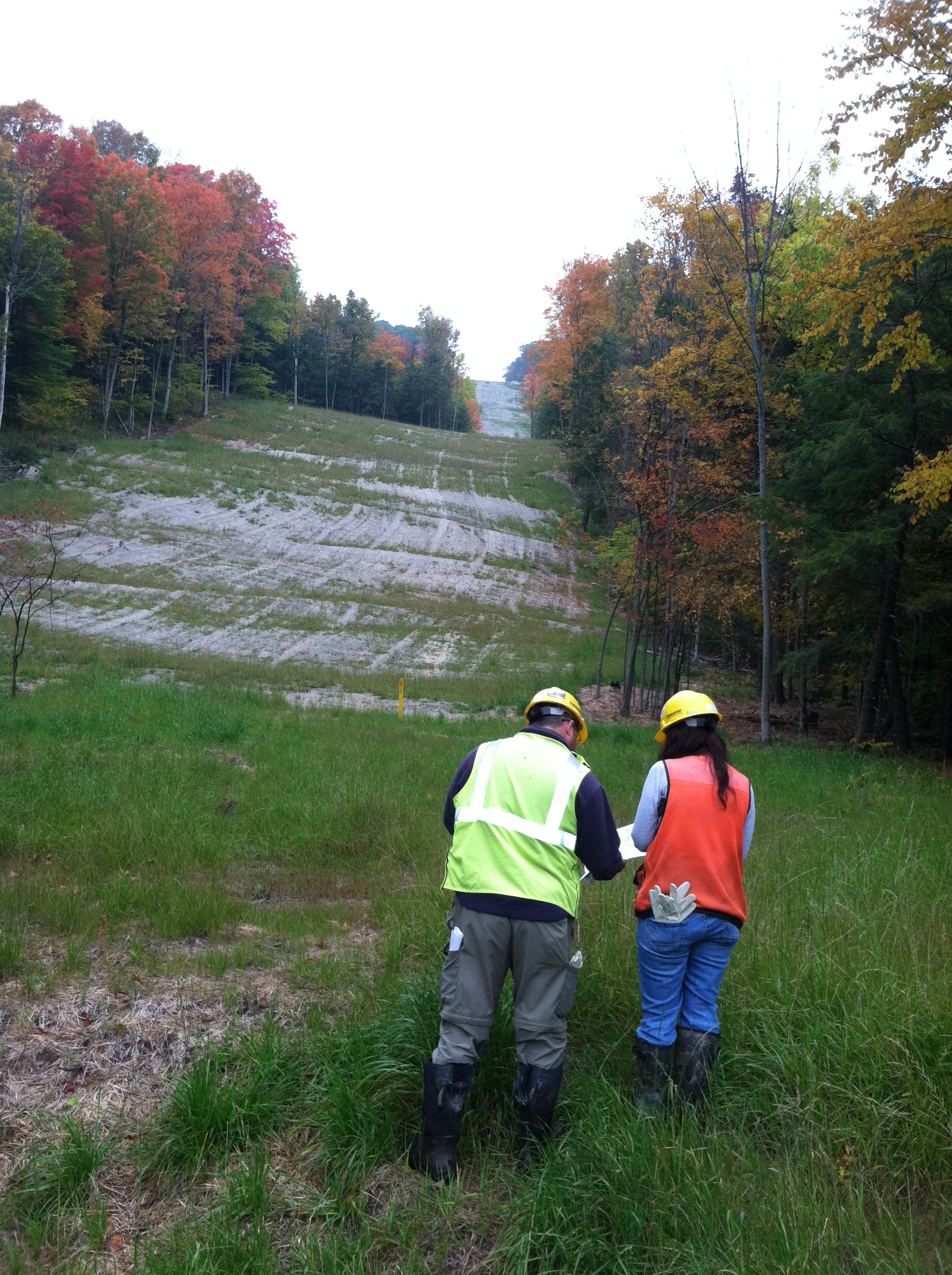 Picture of work being done on pipeline in Tioga County, PA.